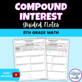Compound Interest 8th Math Guided Notes TEKS 8.12D