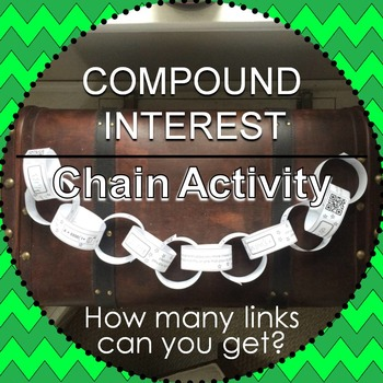Compound Interest Chain Activity {with QR codes}