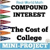 Compound Interest Project College Loans EDITABLE distance