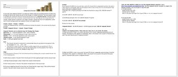 Compound Interest- Compound Interest Problems w/&w/out Comp. Interest Calculator