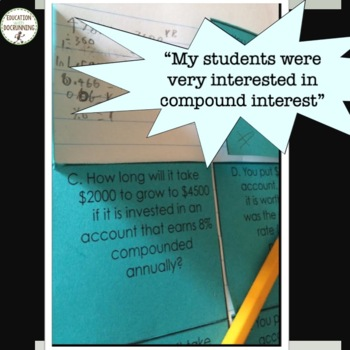 Exponential Function Interactive notebook for Compound Interest