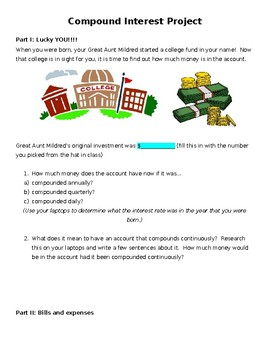 Compound Interest (Exponential Growth) Project