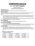 Compound Interest Game Puzzle with Worksheet