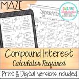 Compound Interest Worksheet - Calculator Required Version Maze Worksheet