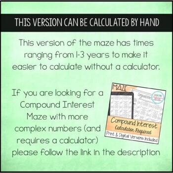 Compound Interest Maze