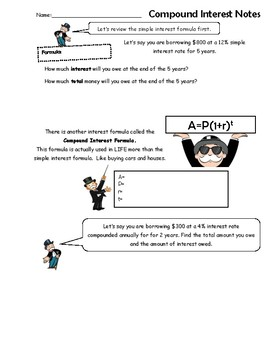 Compound Interest Notes