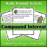 Compound Interest Walk Around Classroom Activity-Scavenger Hunt