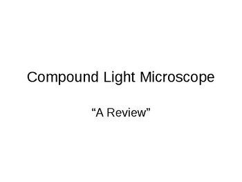 Compound Light Microscope Powerpoint
