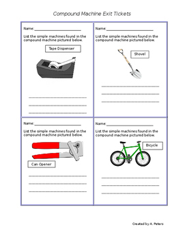Compound Machines Exit Tickets