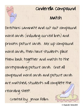 """Compound Match (for CCSS Unit 6, """"Around the World with a"""