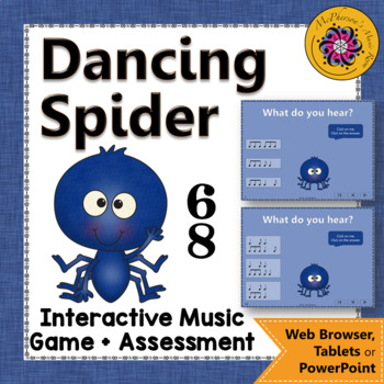 Rhythm Game: Compound Meter 6/8 Interactive Music Game & Assessment {Spider}