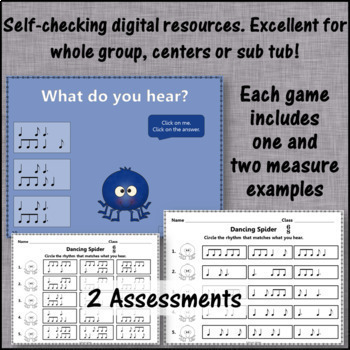Compound Meter 6/8: Interactive Music Games + Assessment {Bundle}