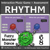 Compound Meter 6/8 Interactive Rhythm Game + Assessment {Fuzzy Monster Dance}