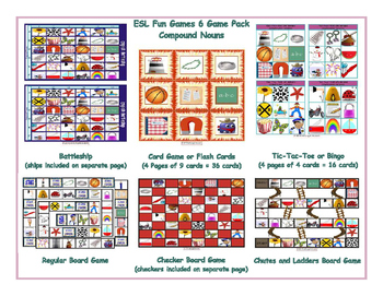 Compound Nouns 6 Board Game Bundle