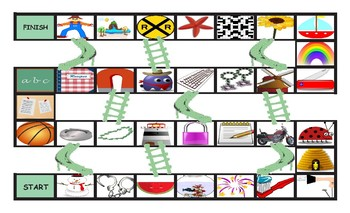 Compound Nouns Chutes and Ladders Board Game