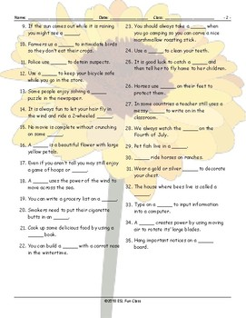 Compound Nouns Jumbled Words Worksheet
