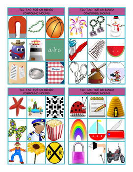 Compound Nouns Tic-Tac-Toe or Bingo