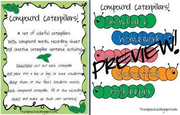 Compound Nouns: Word Caterpillars