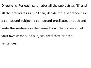 Compound Predicate and Subject Sort