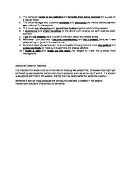 Compound Predicates Worksheet
