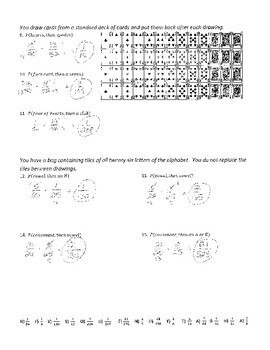 compound probability 1 joke worksheet with answer key by plant problems. Black Bedroom Furniture Sets. Home Design Ideas