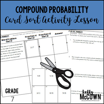 Compound Probability Card Sort Activity Lesson