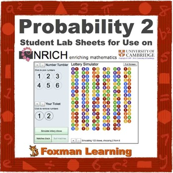 Probability Lottery -- nrich Interactive Lab for Middle School Math Common Core