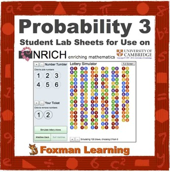 Probability Lottery 2 -- nrich Interactive Lab for Middle