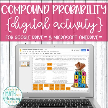 Compound Probability DIGITAL Drag and Drop Activity for Google Distance Learning