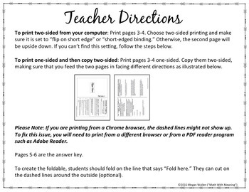 Compound Probability Foldable Notes Booklet - Aligned to CCSS 7.SP.C.8