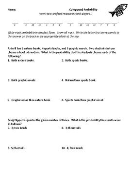Compound Probability Joke Worksheet 2 by Plant Problems | TpT