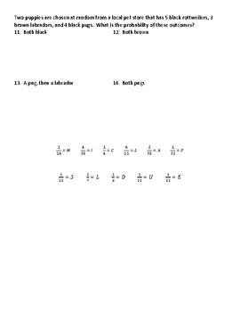 Compound Probability Joke Worksheet 2