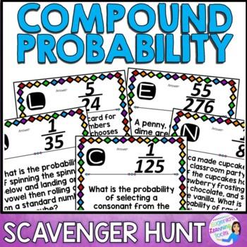 Compound Probability Scavenger Hunt Activity
