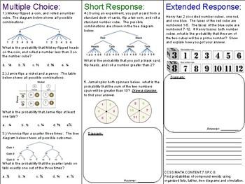 Probability Tree Diagram Worksheets Teachers Pay Teachers