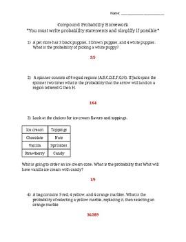 Compound Probability  (VA SOL 7.9 and 7.10)