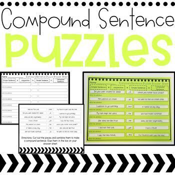 Compound Sentence Activities and Task Cards