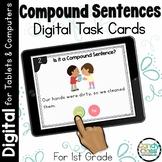 Compound Sentence Activity: First Grade Digital Task Cards
