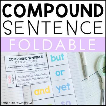 Compound Sentence Foldable - FANBOYS - Grammar Journal/Notebook