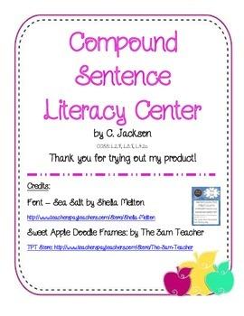 Compound Sentence Literacy Center