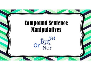 Compound Sentence Manipulatives