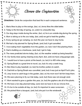 Compound Sentence Packet - No prep - FREEBIE!