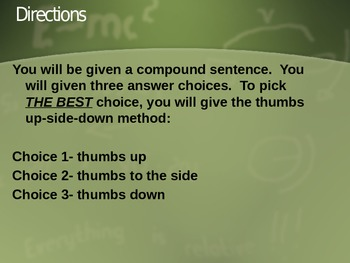 Compound Sentence Review with Coordinating Conjunctions