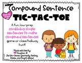 Compound Sentence TIC-TAC-TOE! Low-Prep Game for Combining
