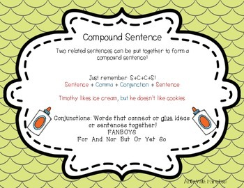Compound Sentence Task Cards