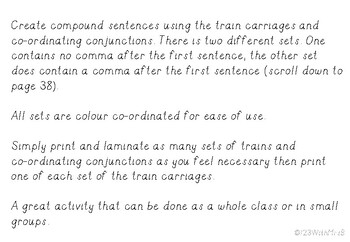 Compound Sentence Trains * Interactive Activity *