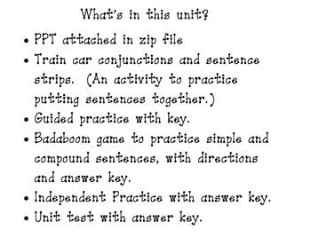 Compound Sentence Unit