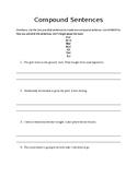 Compound Sentence Worksheet