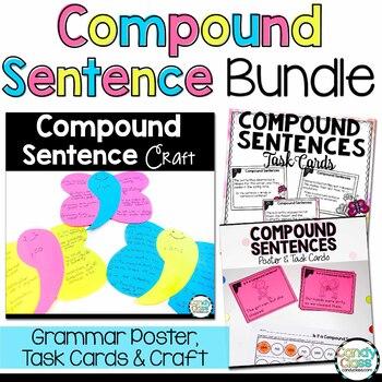 Compound Sentence Task Cards - L.2.1.F