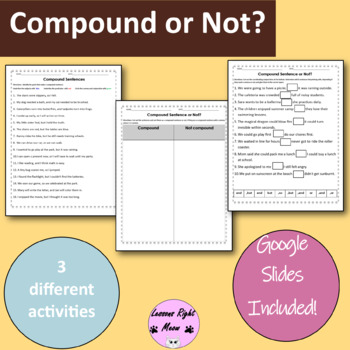 Compound Sentences with coordinating conjunctions (FANBOYS)