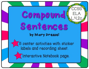 Compound Sentences - 5 Center activities and more